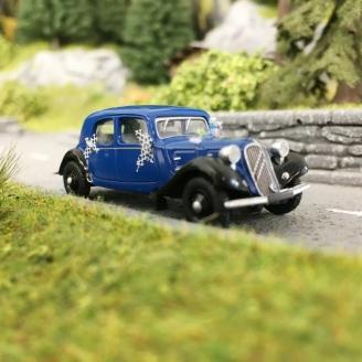 Citroën Traction 11A 1935 voiture des mariés-HO 1/87-SAI 6176