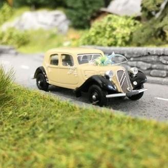 Citroën Traction 11A 1935 voiture des mariés-HO 1/87-SAI 6175