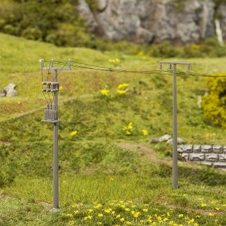 4 mâts de ligne électriques - HO 1/87 - Faller 180928