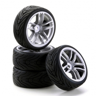 4 roues piste 5 branches doubles Hexa 12 mm-1/10 1/12-CARSON 500900533
