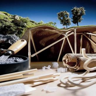 35 Eléments de Structure rigide en bois-NOCH 61650