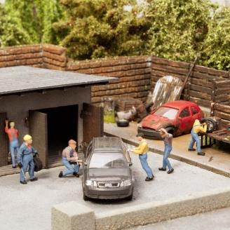 Scène sonore Industrie / Garage-HO 1/87-NOCH 12840