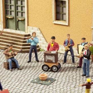 Scène sonore musiciens de rue-HO 1/87-NOCH 12820