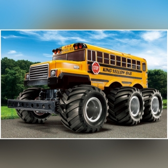 Bus Scolaire US King Yellow G6-01 6WD Kit - 1/18 - TAMIYA 58653
