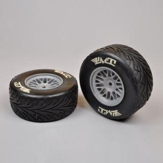 2 Roues AV Pneus PLUIE Soft Formule 1 / F1 - 1/5 - FG 10563/05