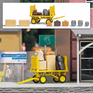 Chariot Postal + accessoires-HO 1/87-BUSCH 1646