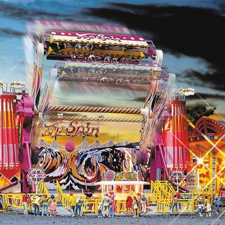 "Manège Caroussel ""Top Spin"" (Motorisé) - Fête Foraine-HO-1/87-FALLER 140431"