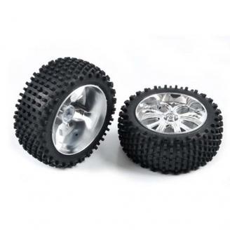 2 roues arrières à picots Hexa 12 mm - 1/10 - T2M T4905/2A