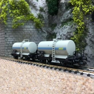 2 Wagons Citernes Soudée OCEM 29 SNCF Ep IV - N 1/160 - REE NW047