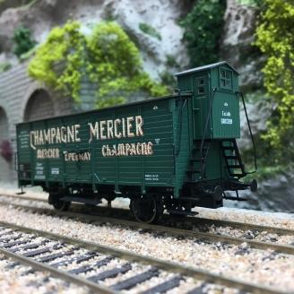 "Wagon couvert ""CHAMPAGNE MERCIER"" Ep I-HO 1/87-BRAWA 49805"