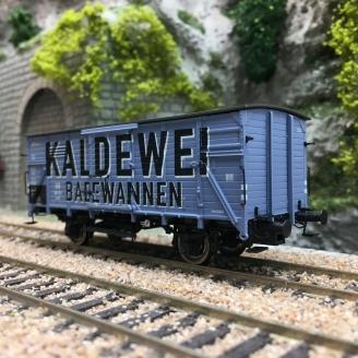 "Wagon couvert G10 ""KALDEWEI"" DB Ep III-HO 1/87-BRAWA 49803"