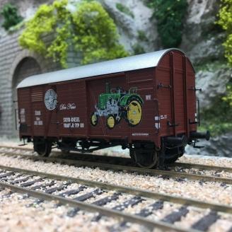 "Wagon couvert GMS ""STEYR PUCH"" ÖBB Ep III-HO 1/87-BRAWA 47987"
