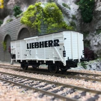"Wagon couvert G10 ""LIEBHERR"" DB Ep III-HO 1/87-BRAWA 49802"