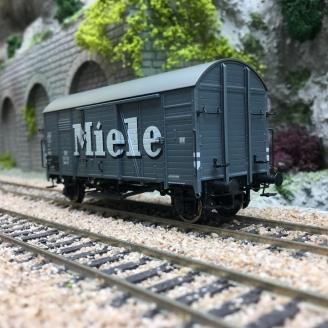 """Wagon couvert GMS 30 """"MIELE"""" DB Ep III-HO 1/87-BRAWA 47982"""