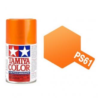 Orange Métallisé Polycarbonate Spray de 100ml-TAMIYA PS61