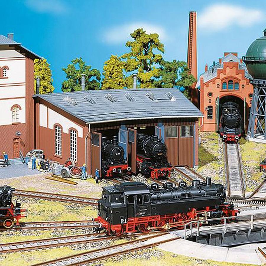 Rotonde à 3 locomotives-HO-FALLER 120176