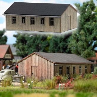 Bâtiment en bois-HO 1/87-BUSCH 1544