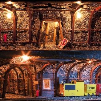 Set d'aménagement de galerie minière-HO 1/87-BUSCH 1473