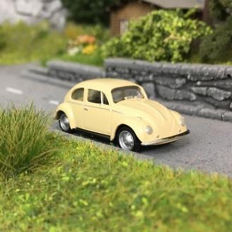VW Coccinelle / Beetle Beige-HO 1/87-HERPA 22361-007