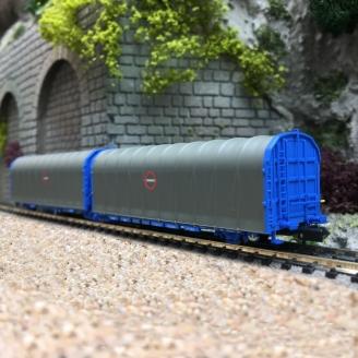 Wagon bâché double Lails-N-1/160-MFTRAIN 33061