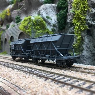 2 Wagons trémie houiller EF 30 SGW SNCF Ep III-HO 1/87-JOUEF HJ6199