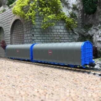 Wagon bâché double Lails Transfesa-N-1/160-MFTRAIN 33077