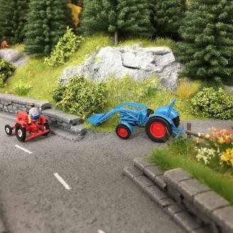 """Tracteur Eicher """"Königstiger"""" avec pelle-HO 1/87-Wiking 87104"""