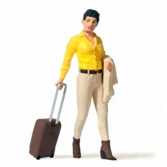 Voyageuse avec sa valise-G 1/22.5-PREISER 45525