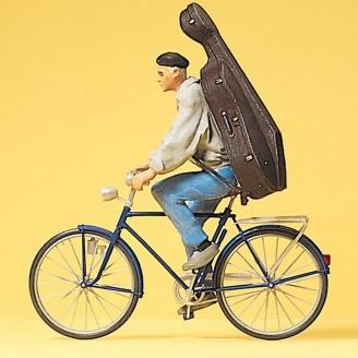 Cycliste avec instrument-G 1/22.5-PREISER 45070