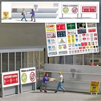 2 personnes au supermarché en 2020 -HO 1/87-BUSCH 7910