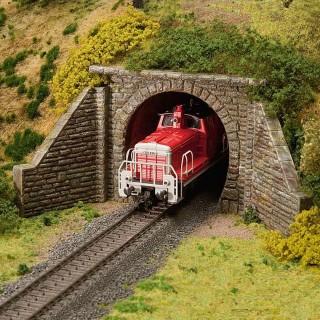 Entrée de tunnel 1 voie-HO-1/87-FALLER 120558
