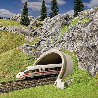 Entrée de tunnel 2 voies-HO-1/87-FALLER 120562