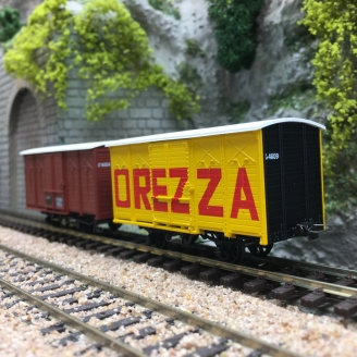 2 Wagons Couverts CFC Rouge UIC / OREZZA-HOm 1/87-REE VM011