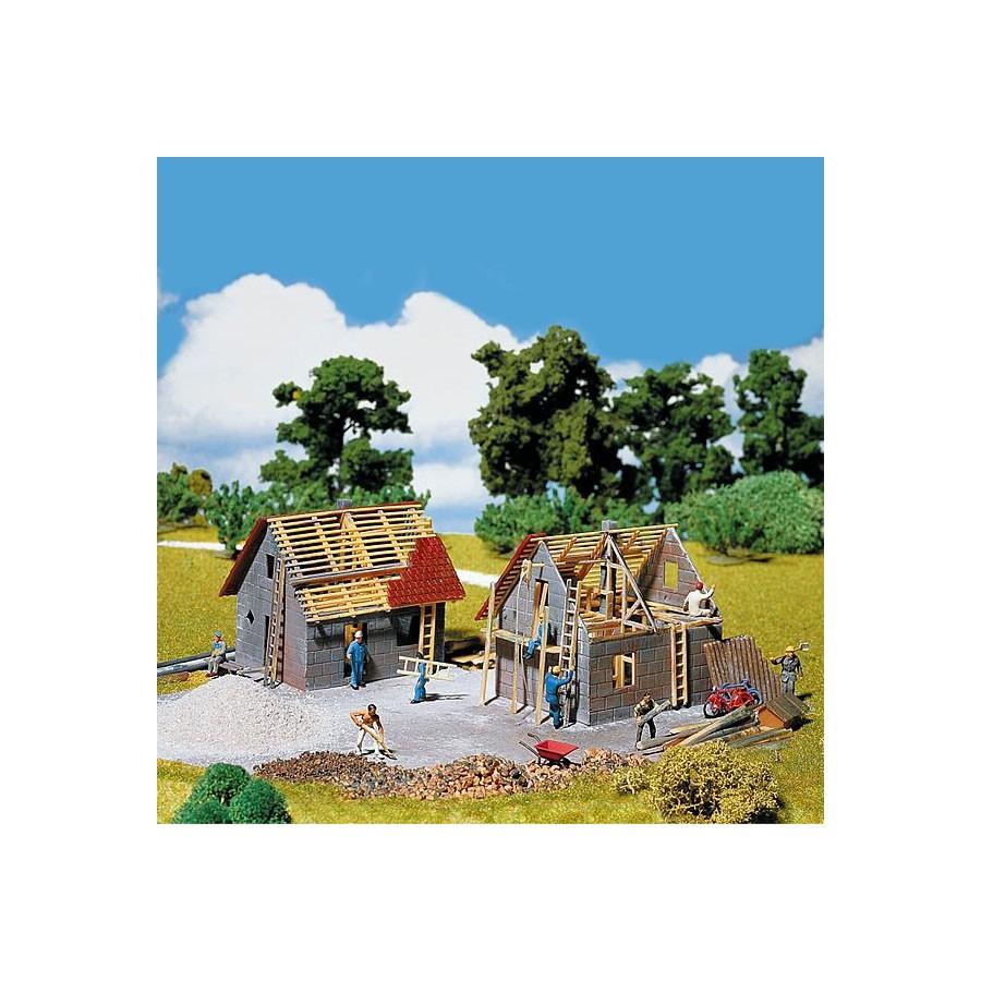 Maison en construction-HO-1/87-FALLER 130246