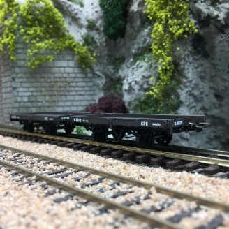 2 wagons plats Brun-HOm 1/87-REE VM021
