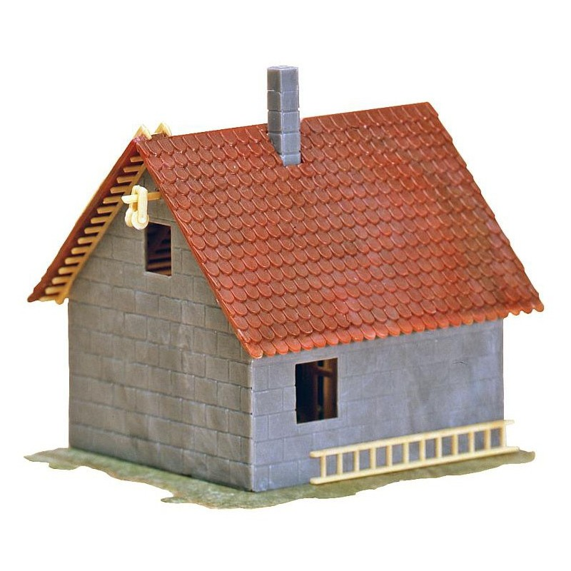 Maison en construction ho faller 130246 modelisme for Maison en construction