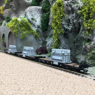 3 wagons lourds type Samms, DB Ep IV-N 1/160-FLEISCHMANN 845512