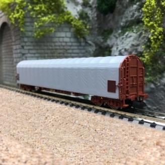 Wagon à bâche coulissante Rils, SNCF Ep VI-N 1/160-FLEISCHMANN 837704