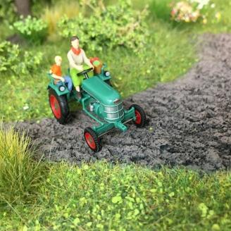 Tracteur Kramer KL II + Personnages-HO-1/87-BUSCH 40071
