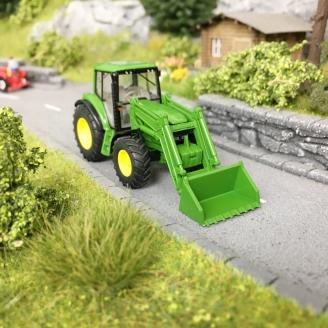 Tracteur avec Pelle / Godet John Deere 6920 S-HO 1/87-Wiking 39338