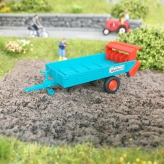 Remorque (épandeur) agricole Blumhardt -HO-1/87-WIKING 88703