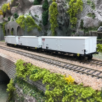 3 Wagons TP FRIGO Origine SNCF STEF Ep III-HO 1/87-REE WB581