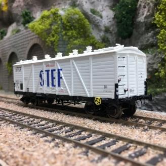 Wagon TP FRIGO Reconstruit SNCF STEF Ep III-HO 1/87-REE WB585