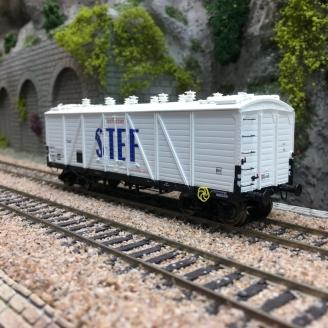 Wagon TP FRIGO Reconstruit SNCF STEF Ep III-HO 1/87-REE WB584