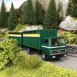 Camion Mercedes + Remorque Transport de bétail-HO 1/87-Wiking 56503