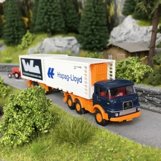 Camion KRUPP Semi remorque double chargement-HO 1/87-Wiking 52201