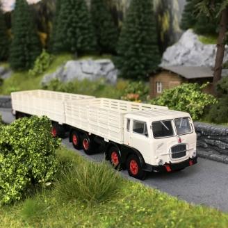 Camion FIAT 690 Millepiedi Blanc-HO 1/87-BREKINA 58412