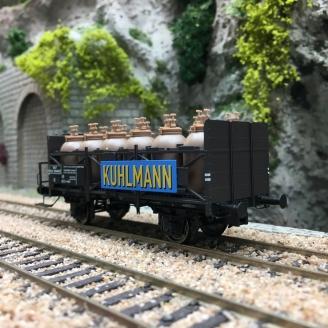 Wagon transport d'acide KUHLMANN SNCF Ep III -HO 1/87- BRAWA 49317