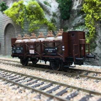 Wagon transport d'acide Alpine ÖBB Ep III -HO 1/87- BRAWA 49318