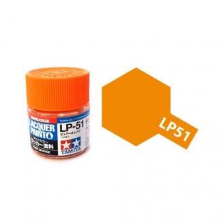 Orange pur brillant pot de 10ml-TAMIYA LP51